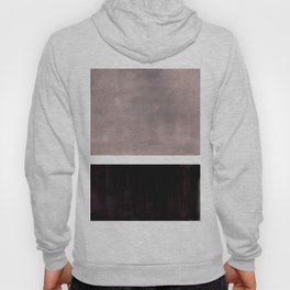 Mid Century Modern Minimalist Art Colorblock Rothko Inspired Squares Grey and Black Simple Abstract Hoody