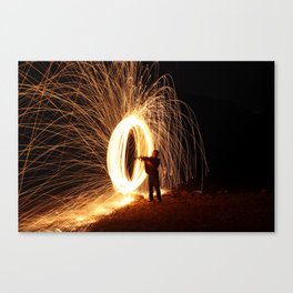 Painting Light Canvas Print