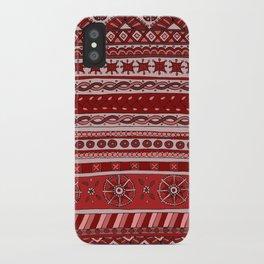 Yzor pattern 005 red iPhone Case