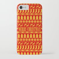 merry christmas iPhone & iPod Cases featuring Merry Christmas by Fimbis
