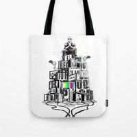 rap Tote Bags featuring Rap God by Reducto