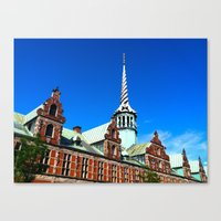 copenhagen Canvas Prints featuring Copenhagen by Erin Halvey