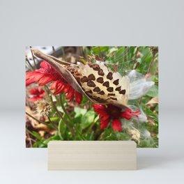Flowers and seeds Mini Art Print