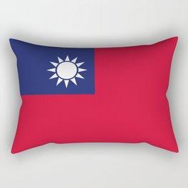 Taiwan flag emblem Rectangular Pillow