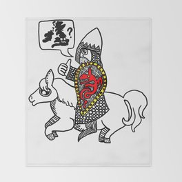 Norman Knight Throw Blanket