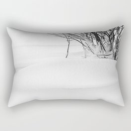 Cotoneaster Bush and Snowdrift Rectangular Pillow