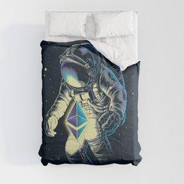 Space Ethereum - Navy Version Comforters