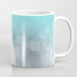 Aqua Turquoise Grey Soft Gradient Bokeh Lights Coffee Mug