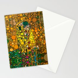 If Klimt The Kiss was painted with bubbles  Stationery Cards