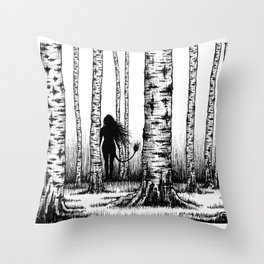 Wood Nymph Throw Pillow