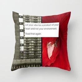 Heart Vs Environment Throw Pillow