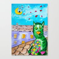 Canvas Prints featuring I'm going on date by Vlad&Lyubov