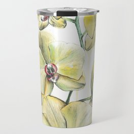 Yellow Orchid Travel Mug