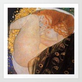 Danae Portrait Painting by Gustav Klimt Art Print
