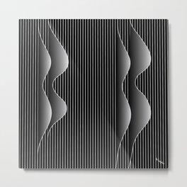 night waves Metal Print