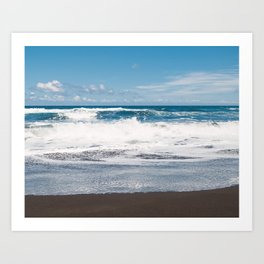 Rocking ocean Art Print