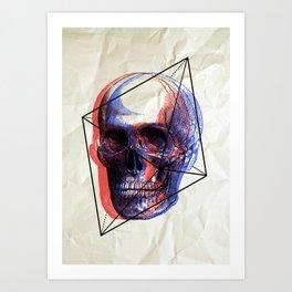 SKULL 2BR Art Print