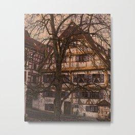 old half-timbered house with restaurant ( Ulm - Fischerviertel ) Metal Print