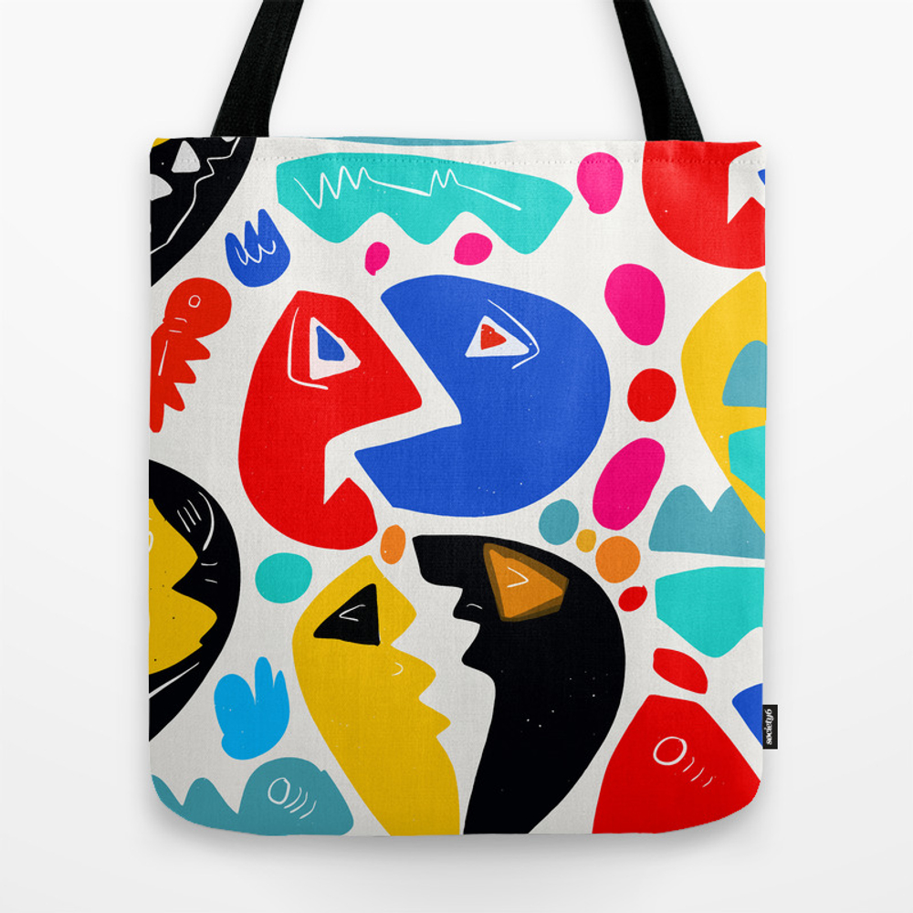 At The King's Party Abstract Pattern Kid Art Tote Bag by Emmanuelsignorino TBG8314157