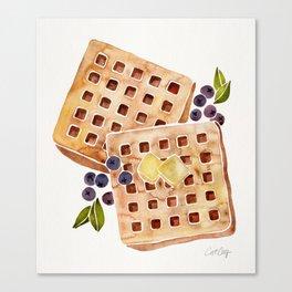 Blueberry Breakfast Waffles Canvas Print