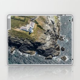Arial views over Trevose Lighthouse, Cornwall Laptop & iPad Skin