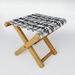 Tie-Dye Blacks & Whites Folding Stool