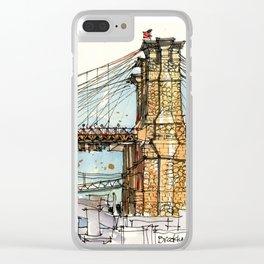 Brooklyn Bridge, New York Clear iPhone Case