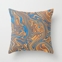 Coffee pattern with notes of sea breeze Throw Pillow