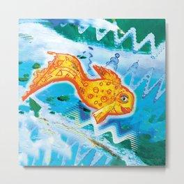 Golden fish 1 Metal Print