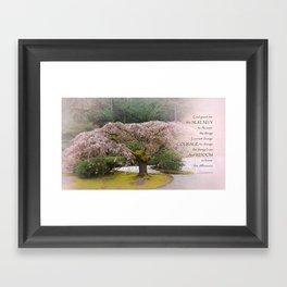 Serenity Prayer Cherry Tree One Framed Art Print