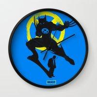 xmen Wall Clocks featuring Xmen - Logan Alter Ego  by Bklounge