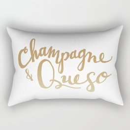 Champagne & Queso Rectangular Pillow