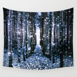 Magical Forest Dark Blue Elegance Wall Tapestry
