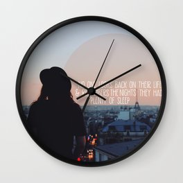 plenty of sleep and sleepless nights Wall Clock