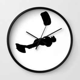 Lets Go Fly A Kite Silhouette Wall Clock
