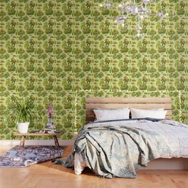 Chartreuse Chinoiserie Wallpaper