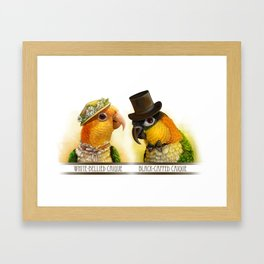 Mr & Mrs Caique Realistic Painting Framed Art Print