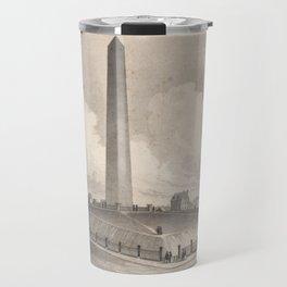 Vintage Bunker Hill Monument Illustration (1848) Travel Mug