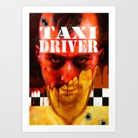 taxi driver Art Prints featuring Taxi Driver by ChrisNygaard