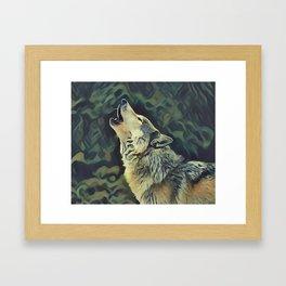 A Wolf Call Framed Art Print