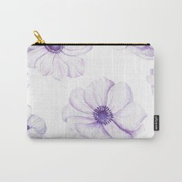 Anemones 2 White #society6 #buyart Carry-All Pouch