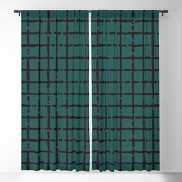 simple cross lines pattern Blackout Curtain