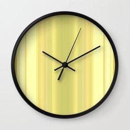 Abstract Modern Yellow stripes v1 Wall Clock