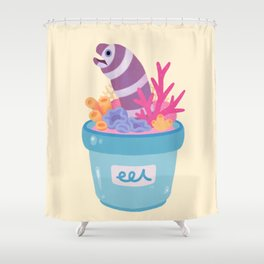 Eel flower pot 2 Shower Curtain