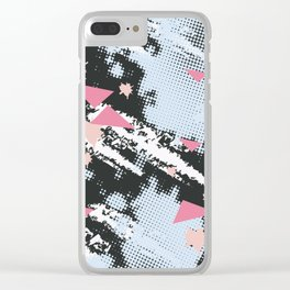 Simple pattern love Clear iPhone Case