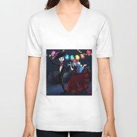 dia de los muertos V-neck T-shirts featuring Dia de los muertos by Lenore2411