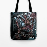 lee pace Tote Bags featuring The Dead's Pace by WarrenRB