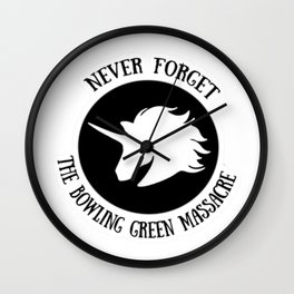 The Bowling Green Massacre Wall Clock