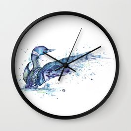 Loon - My Fathers Loon Wall Clock