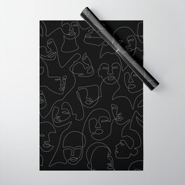 Face Lace Wrapping Paper